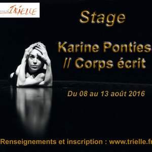 Karine Ponties // Corps écrit
