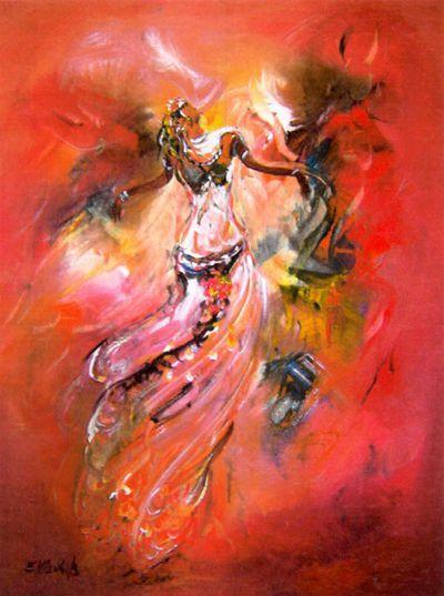 El mouhib artiste peintre abstrait et contemporain en for Peintres abstraits