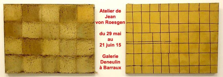 """Exposition """"Fonds d'atelier de Jean von Roesgen"""" du 29 mai au 21 juin 2015"""