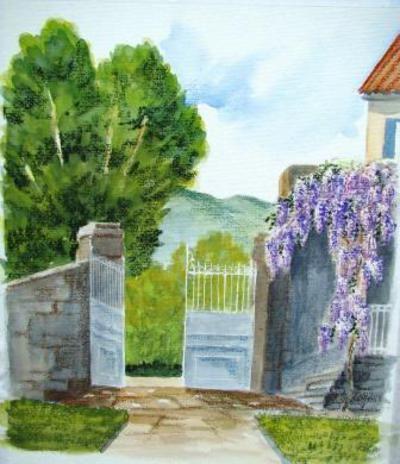 © Margaridou - Stage de peinture , aquarelle , et techniques de peinture en Auv