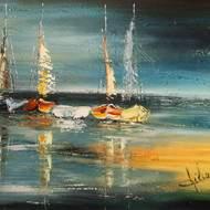 Expo Peinture d'André Wilmet : Vues sur mer