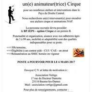 Animateur cirque BPJEPS option cirque