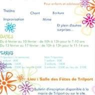 Stage Théâtre à Trilport de 7 à 14 ans vacances de Février