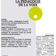 Perfectionner la pédagogie de la voix du 03/11/14 au 07/05/15