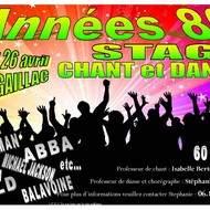 ANNEES 80 Stage CHANT et DANSE
